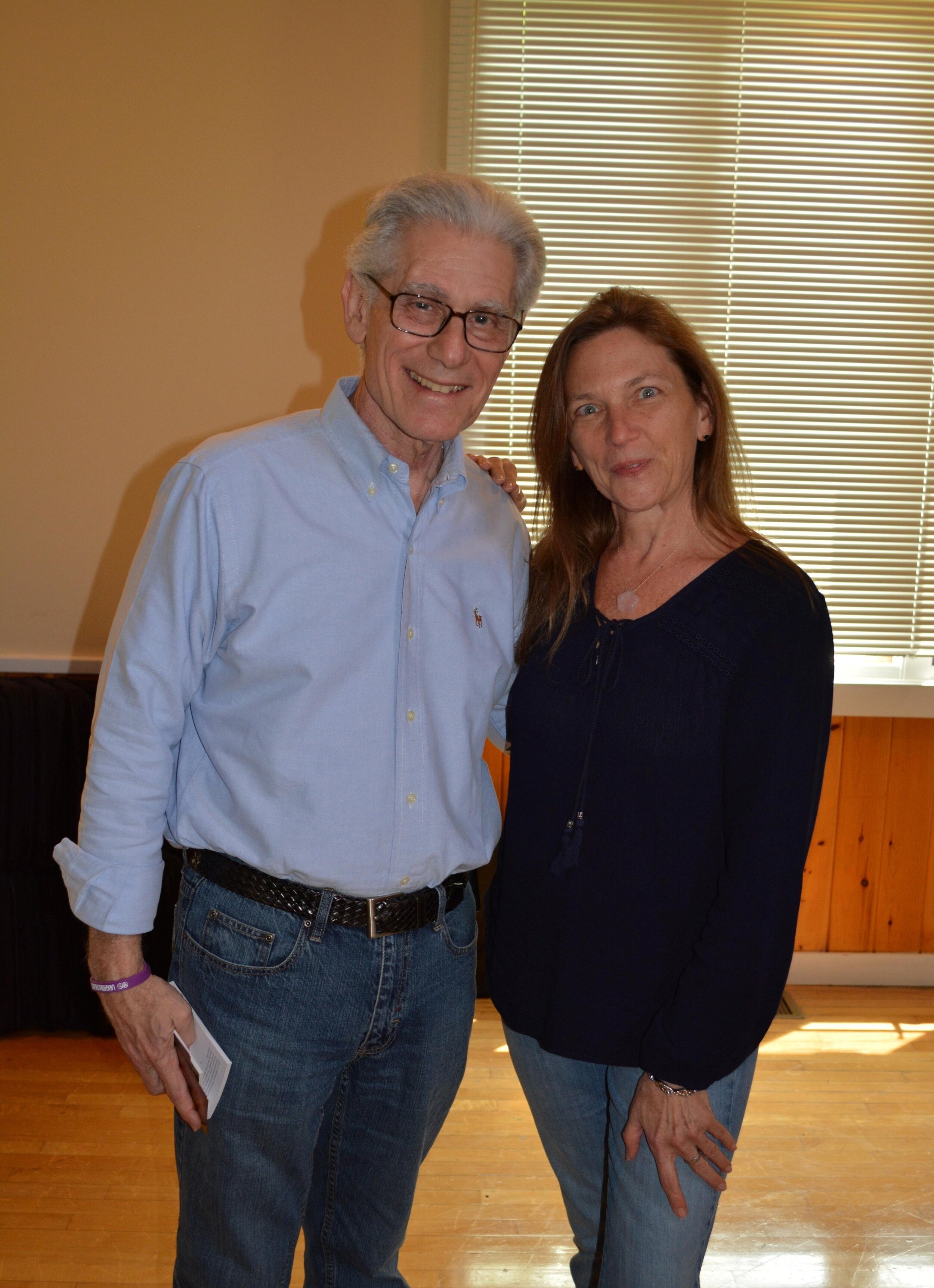 Dr. Brian Weiss with me at training class.