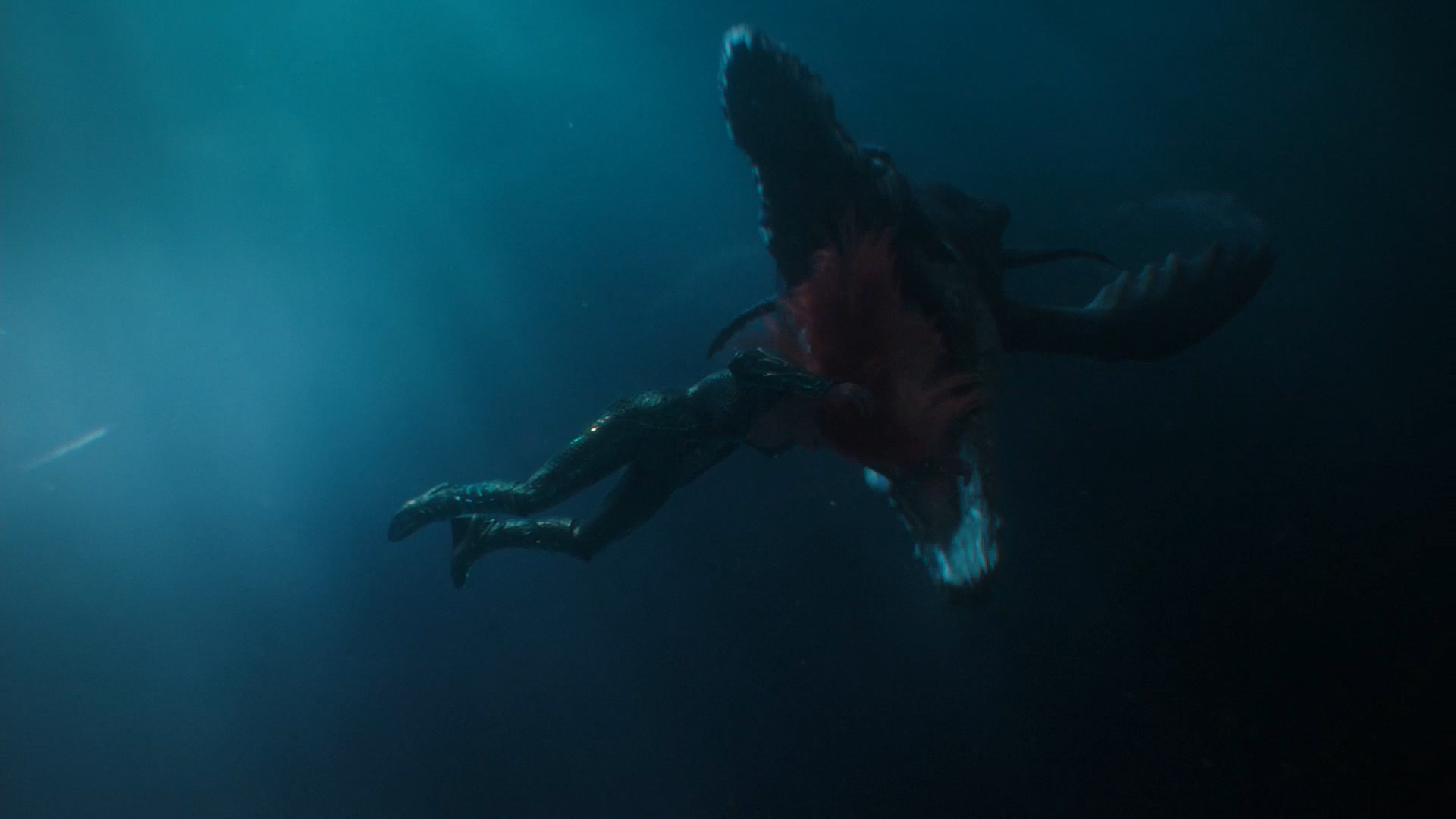 On Aquaman I've created the concept sculpt and final model for the Pliosaur, seen here almost devouring Mera. I've also helped to make the Fisherman Folk models technically sound and create their facial shapes