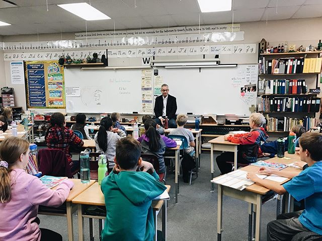 Enjoyed visiting some future voters today at Abbotsford Christian Elementary! Always a pleasure hearing from the youngest members of our community.