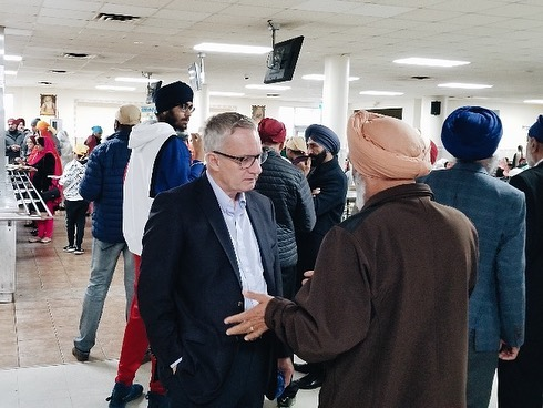 Thanks to the Khalsa Diwan Society for your warm welcoming this morning - it  was a pleasure joining you!
