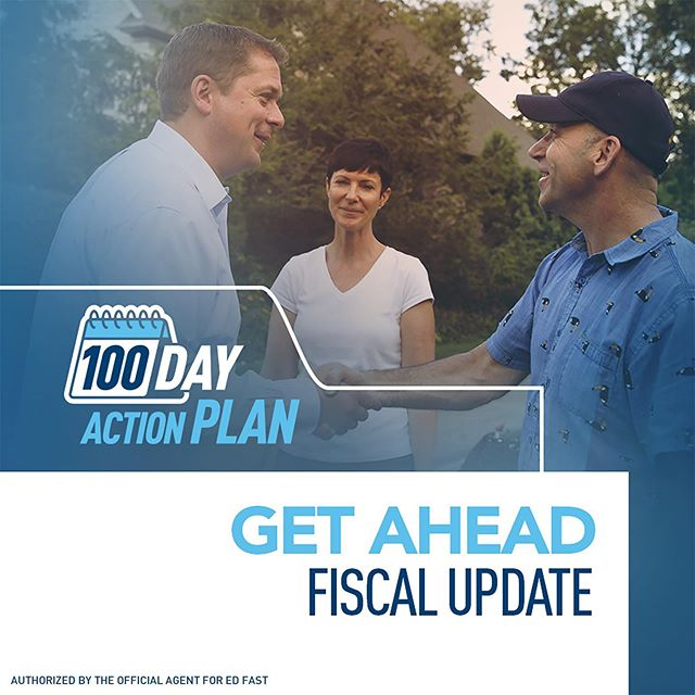 There's no time to waste. This weekend, @andrewjscheer announced his plan to pass the Get Ahead Fiscal Update within his first 100 days as Prime Minister.  By January 1, 2020, this measure will bring much-needed financial relief to Canadians by January 1, 2020 in the form of: ✅ The Green Home Renovation Tax Credit, putting up to $3,800 back in the pockets of families who make green-home improvements ✅ The Children's Fitness Tax Credit, allowing parents to claim up to $1,000 for sports activities. ✅ The Children's Arts and Learning Tax Credit, letting parents claim up to $500 for arts and learning programs. ✅ The Green Public Transit Tax Credit, saving a family of four who take transit almost $1,000.
