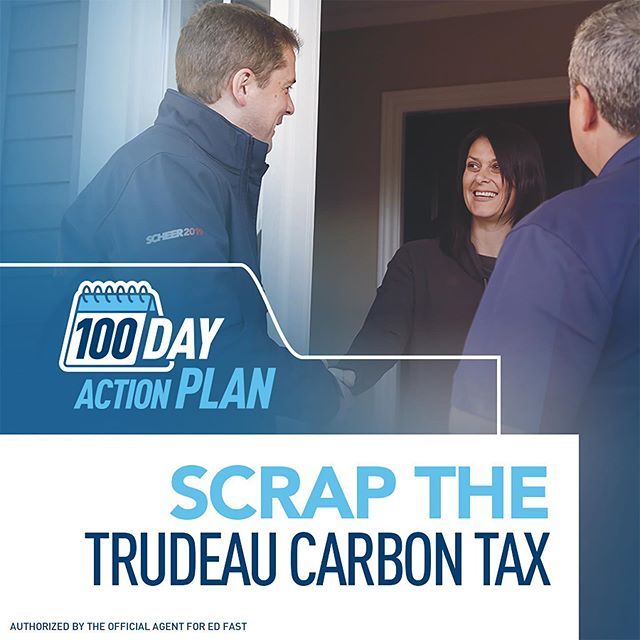 Today @andrewjscheer continued to roll out his 100 Day Action Plan, and announced that a new Conservative government will repeal Justin Trudeau's carbon tax as its first piece of legislation.  In addition, our government would remove GST from home heating bills - Canadians shouldn't be taxed for trying to stay warm this winter.