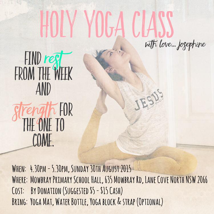 Holy Yoga Sydney With Josephine Sundays