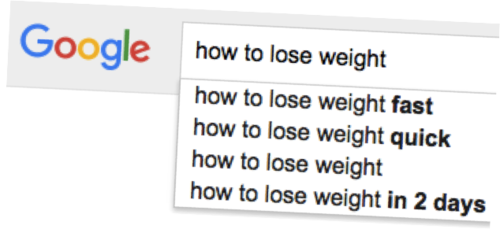 Google Search How to Lose Weight Fast