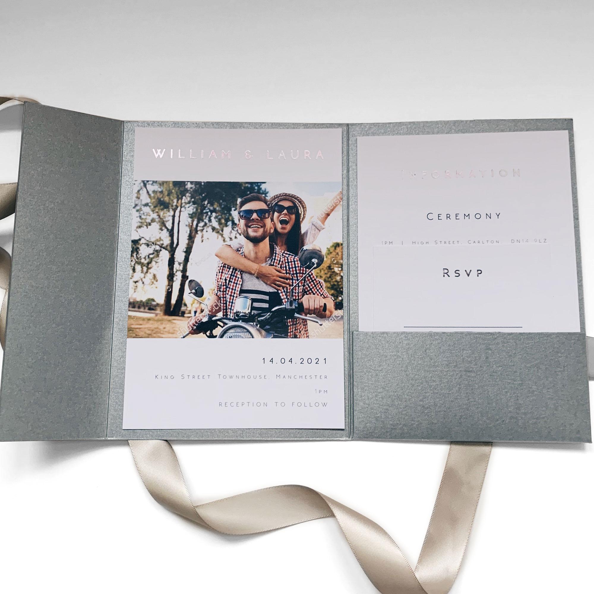 Contemporary Pocketfold Wedding Invitation