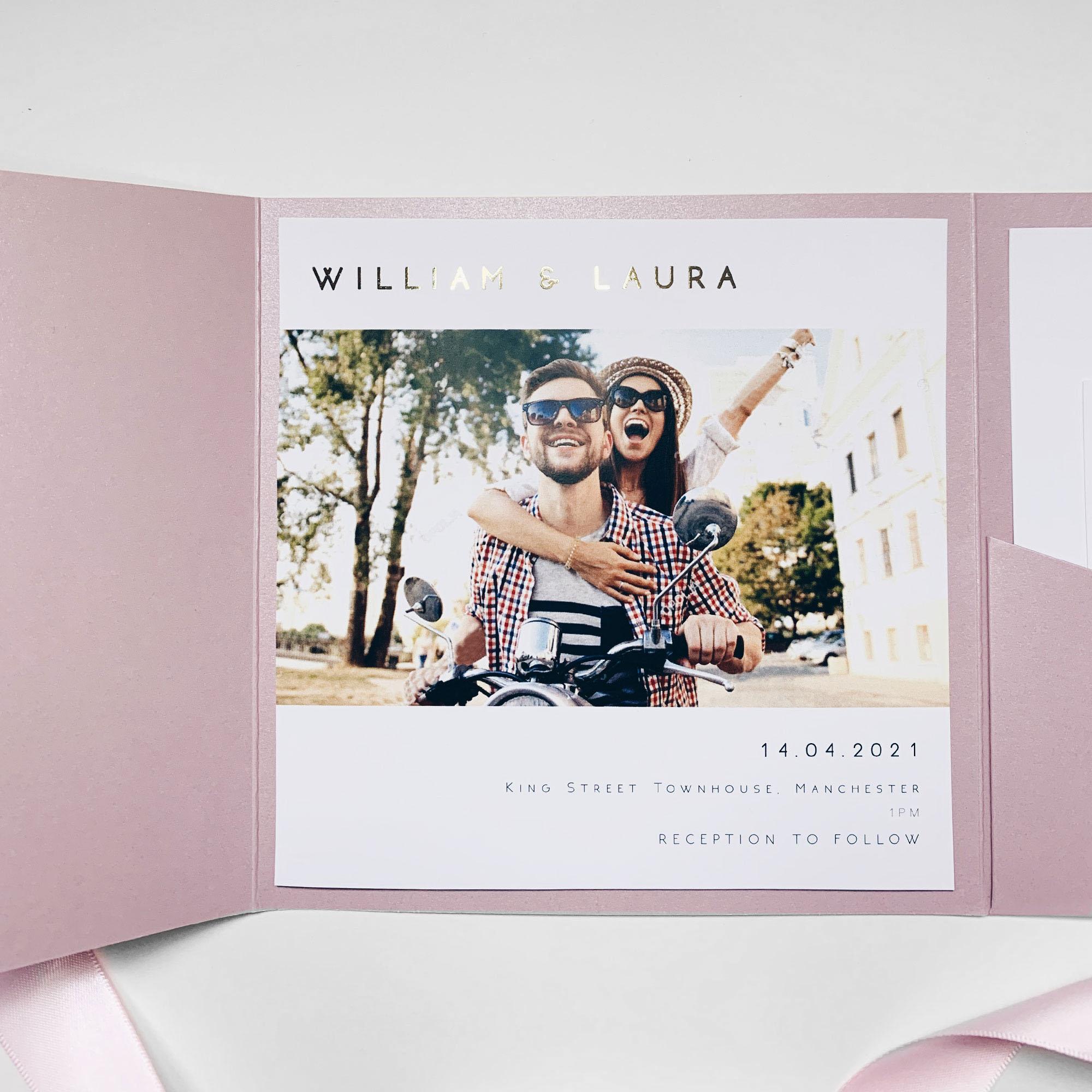 Finest Pocketfold Wedding Invitation