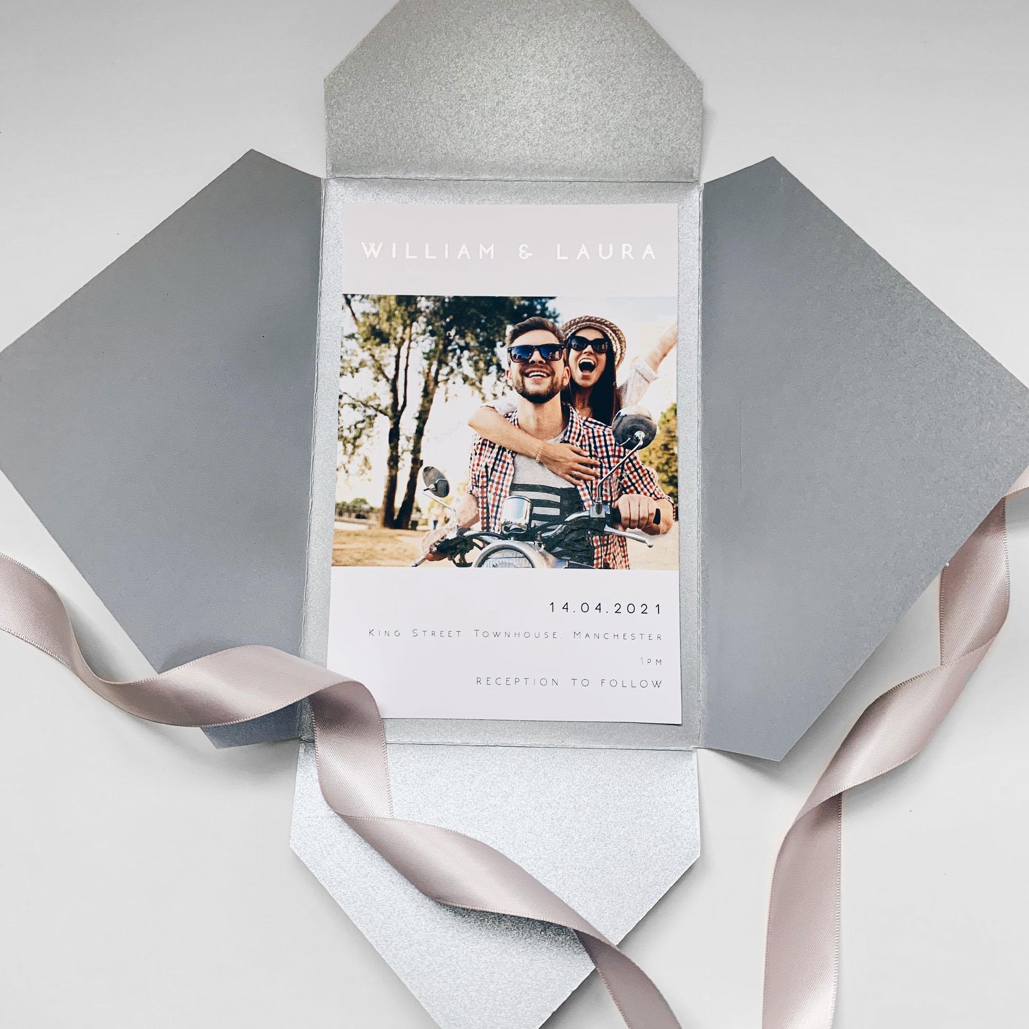 Elite Pocketfold Wedding Invitation