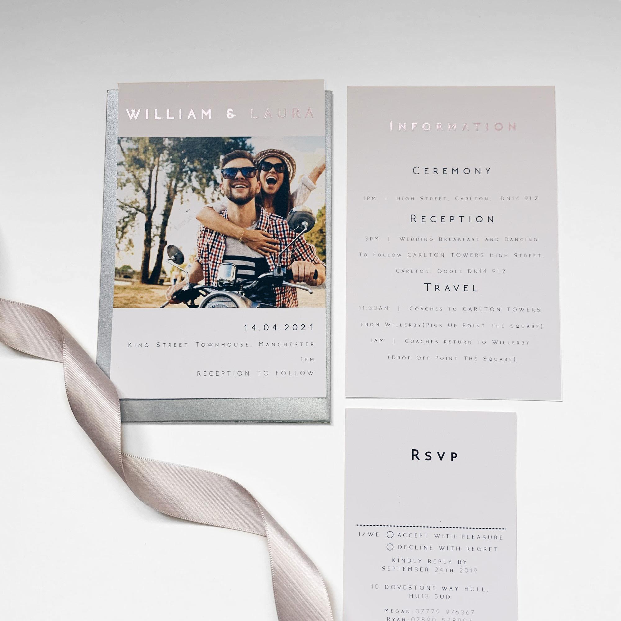 Impact Pocketfold Wedding Invitation
