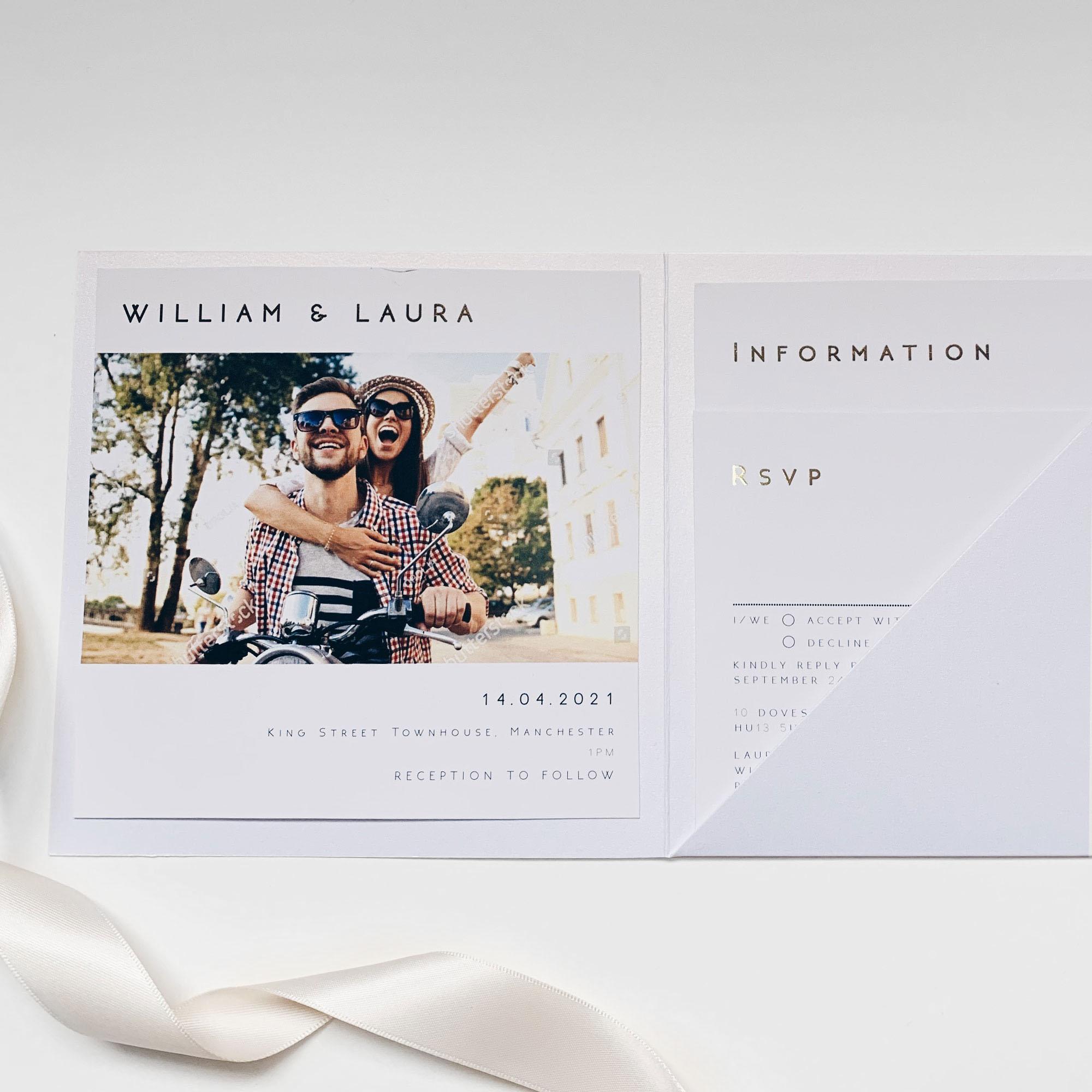 Statement Pocketfold Wedding Invitation