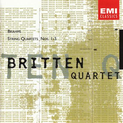 BRAHMS: STRING QUARTETS NOS. 1-3   Released: May 1995  Performer: The Britten Quartet  Composer: Johannes Brahms