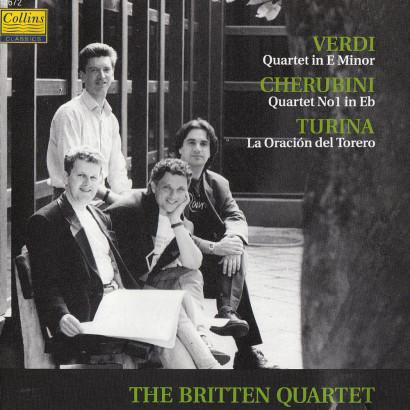 GIUSEPPE VERDI & LUIGI CHERUBINI: STRING QUARTETS   Released: May 1992  Orchestra: The Britten Quartet  Composer: Giuseppe Verdi, Luigi Cherubini, Joaquin Turina