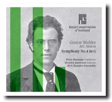2015 ROYAL CONSERVATOIRE OF SCOTLAND   Recorded Gustav Mahler's 4th Symphony in the Glasgow concert hall with students from the Royal Conservatoire of Scotland, which was released on the Nimbus in 2015.