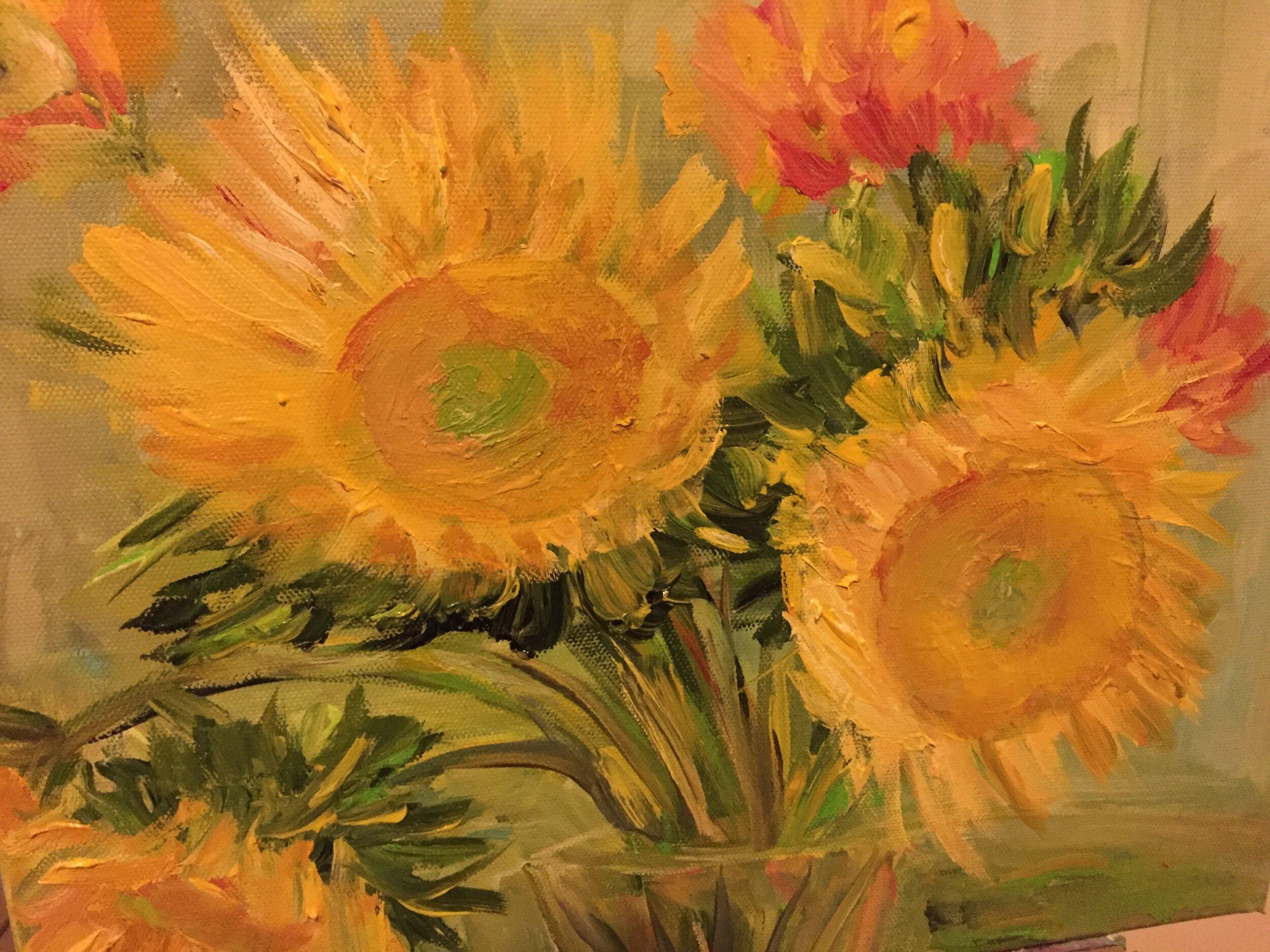 Sunflowers, Marie Larken.JPG