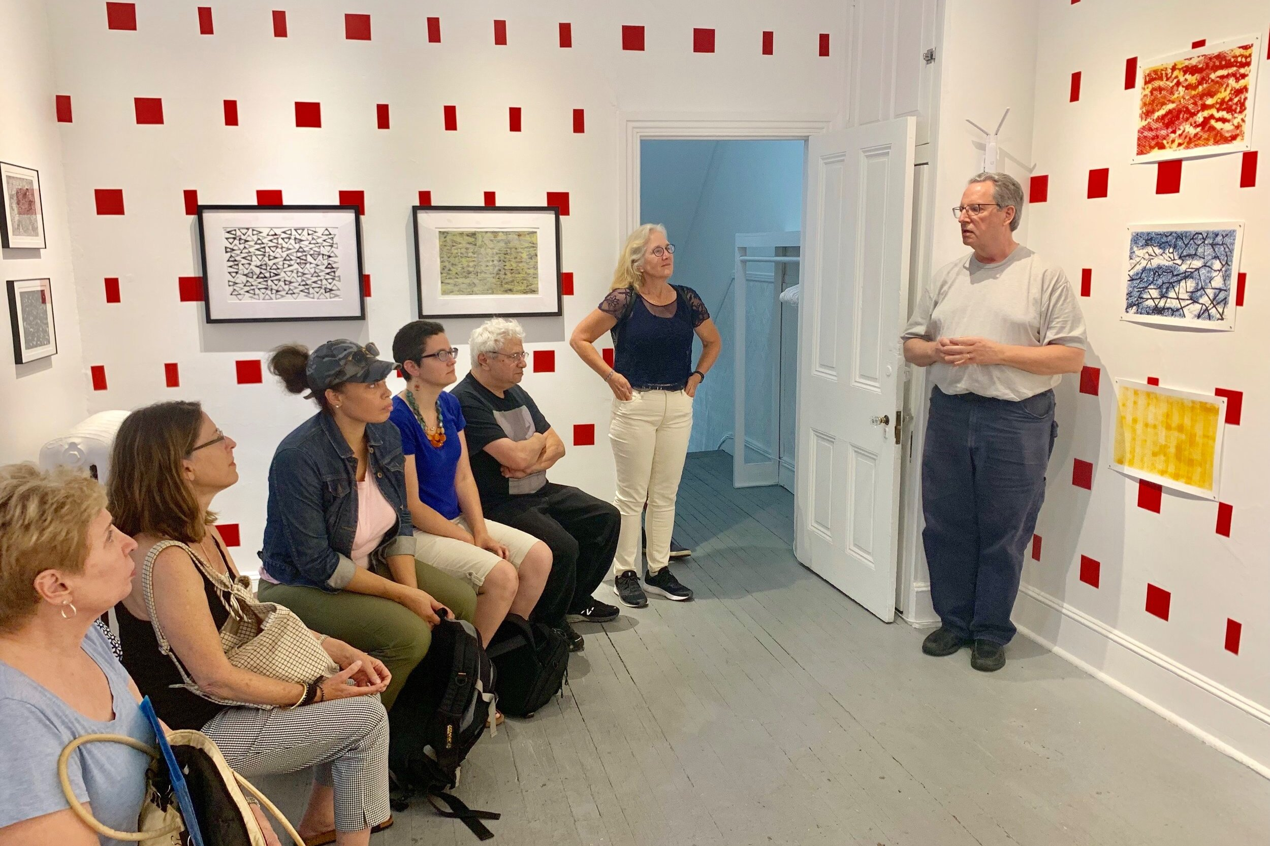 DVAA member, Bill Brookover, talking about his exhibition at DVAA.