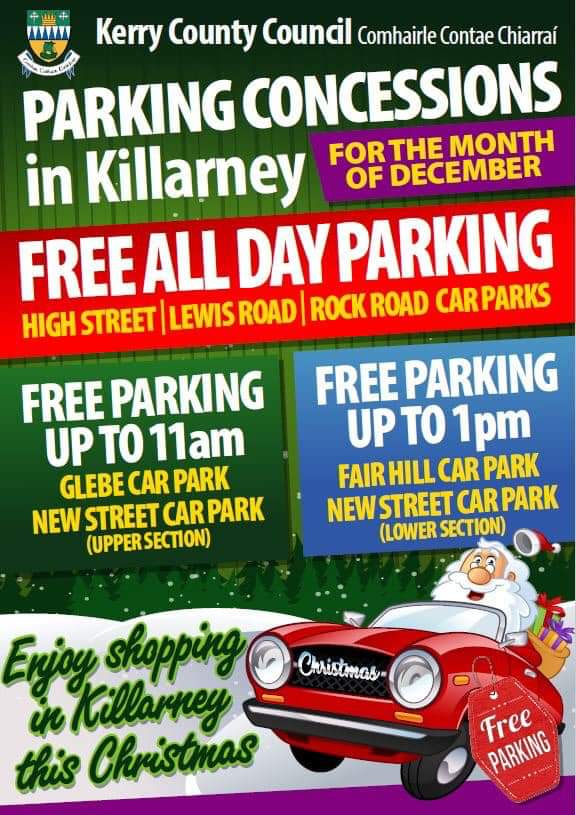 Free Parking Plan For Killarney Car Parks This December Spa Gaa