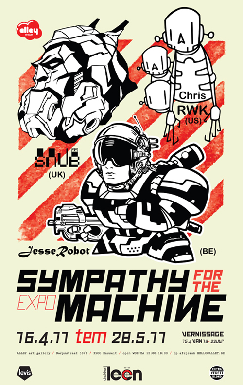 Triple-Decker show with my fellow robot heroes. More info  here