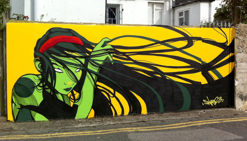 Commissioned wall. Thanks to  wet paint  for the hook up. Large view  here  Powered by  KOBRA