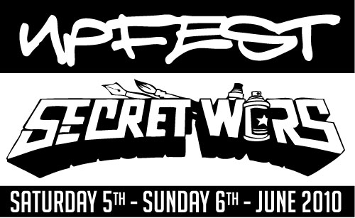 UPFEST & SECRET WARS both this weekend. I'll be painting in the day and doing secret wars in the evening, then dubstep and beer until I fall over 🙂