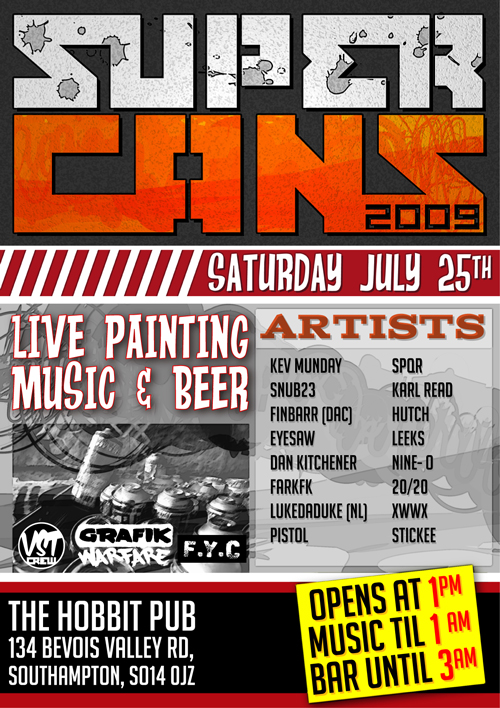 This Saturday in Southampton. The last in the marathon paint weekends I've been in on.. phew  Info here: http://www.flickr.com/groups/supercans2009/