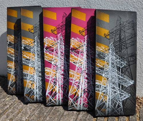 To celebrate the re-work of SNUB23.COM the first of the Pylon canvases are now in the shop  here  Big shouts going out to  Delarge  for the site bodywork.