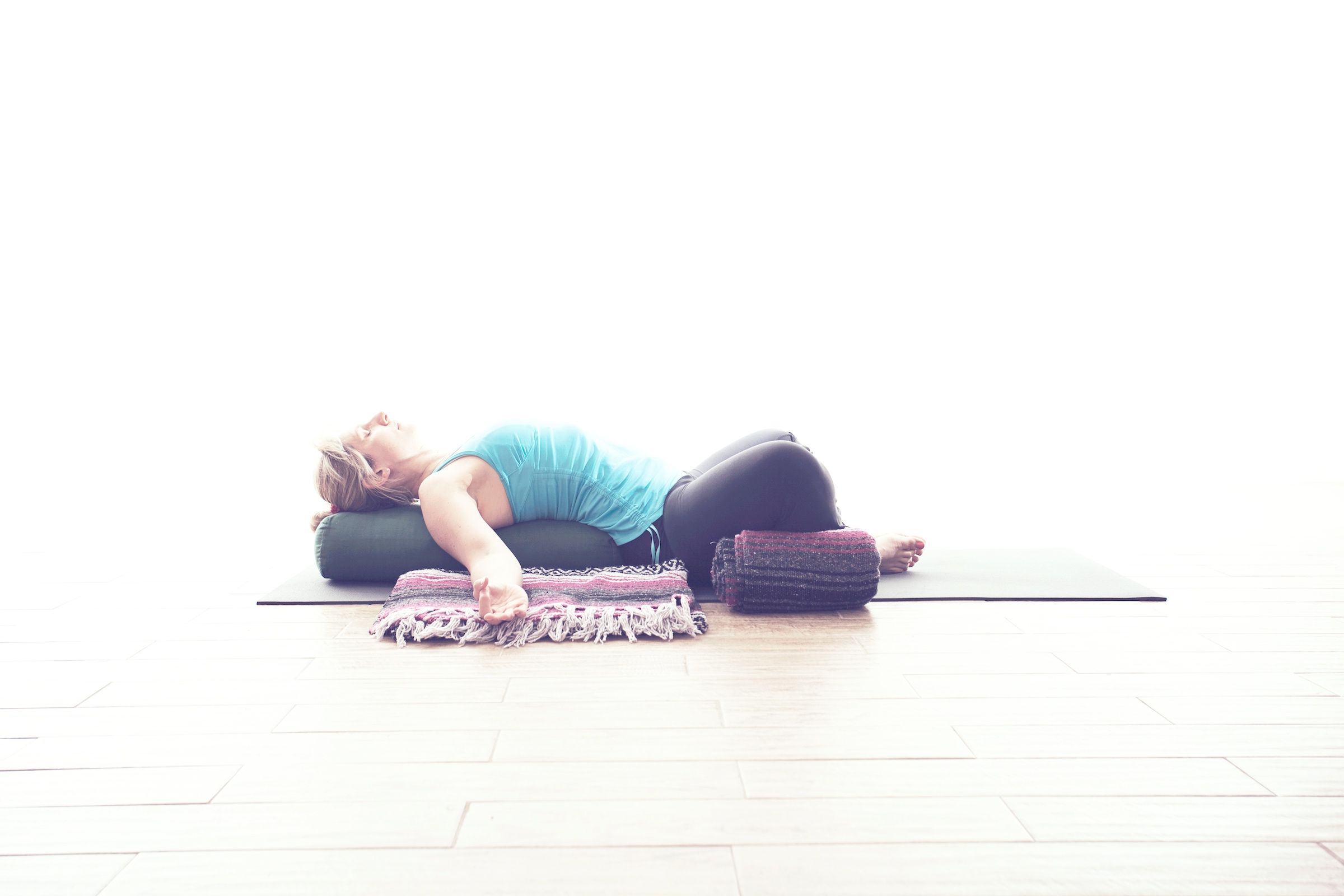 Restorative  Apart from taking time to sleep, we rarely take time to rest despite the busy pace of life we keep. Restorative yoga helps us learn to relax and rest deeply by allowing props to support the body in poses for deeper opening.