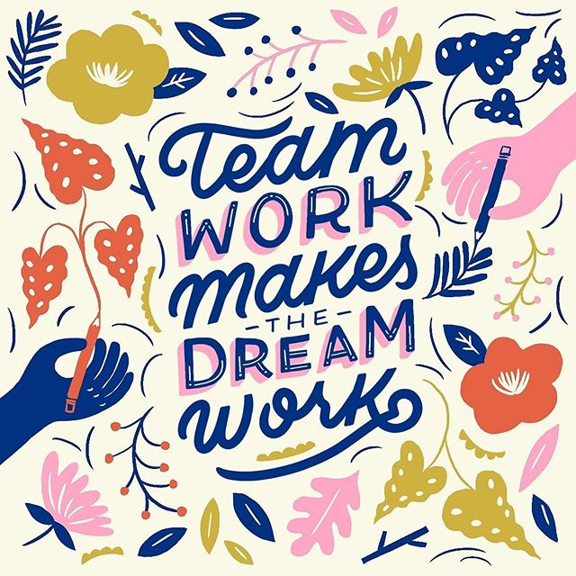 Let's get motivated!  #teamwork #dream #dreamteam #losangeles #illustration #designer #artist #team #group #project #collab #groupchat