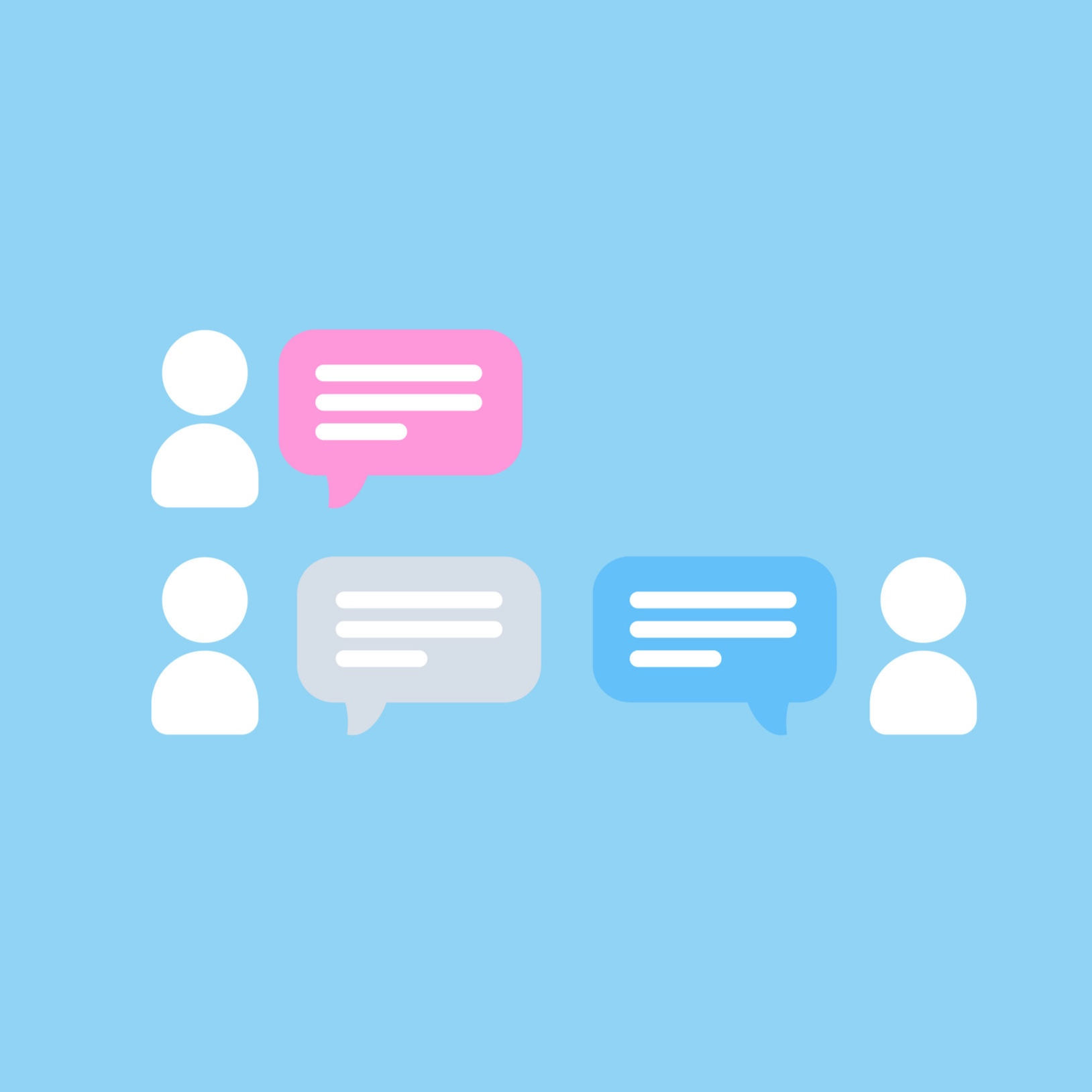 Group Chats - Chat with as many team members as you want in your designated chat channel for each group board you create.