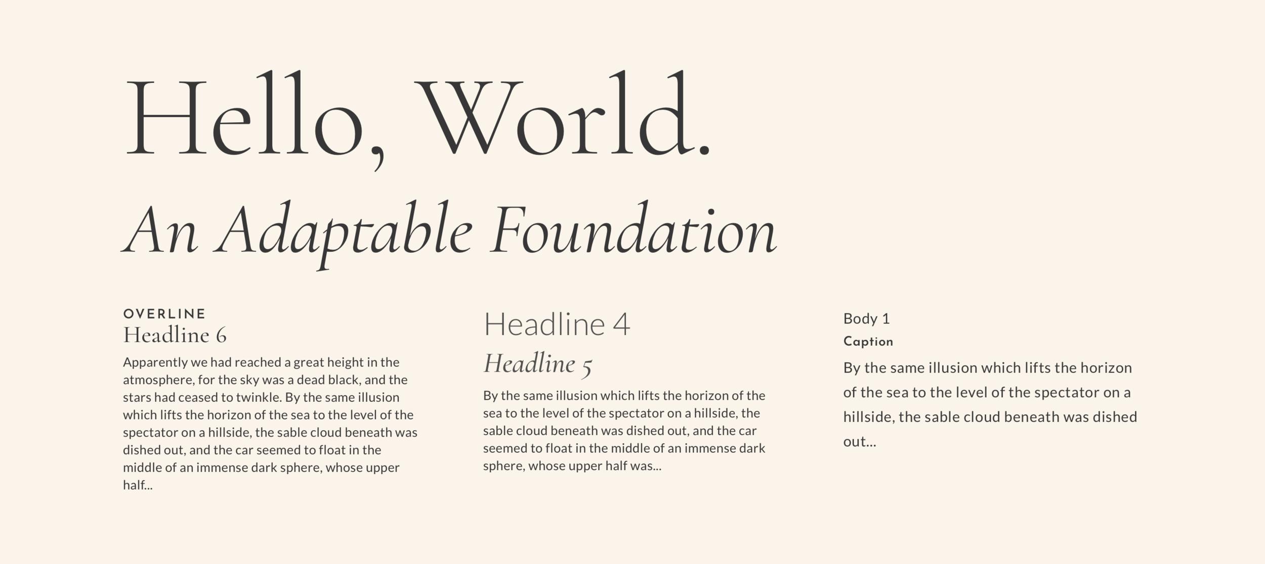 Typographic Scale -