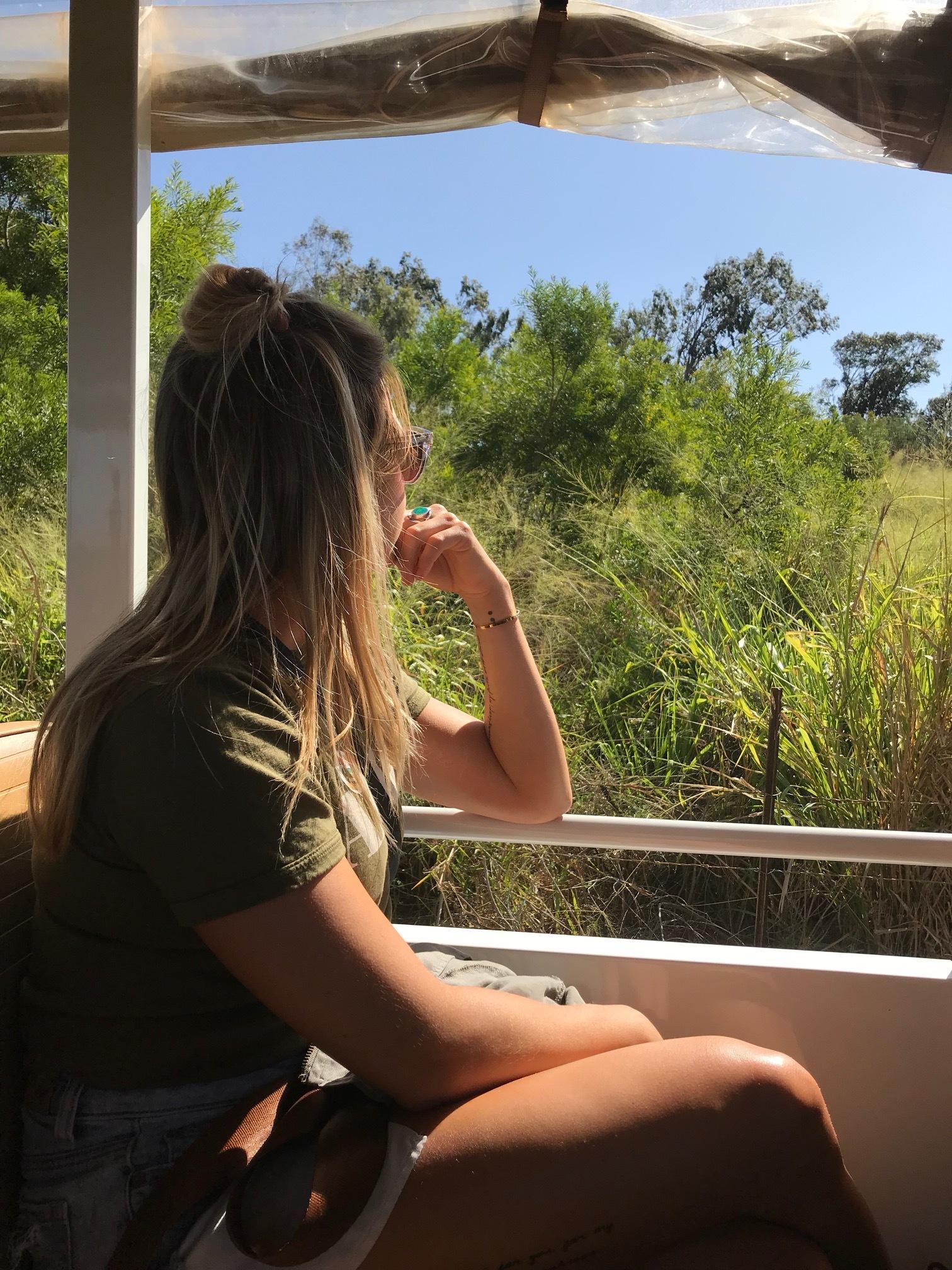 Gazing across the grounds (haha get it) on the newly revamped Kauai Coffee Farm Tour.