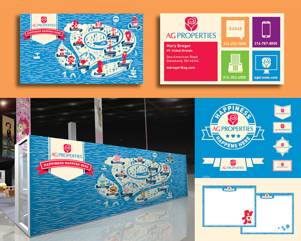 FINAL:  We pulled the map theme across everything from their massive trade show booth (back wall pictured above) to Powerpoint presentations. We also gave their team a host of  logo lockups  they could use wherever in the future. All predesigned and ready to go go go.