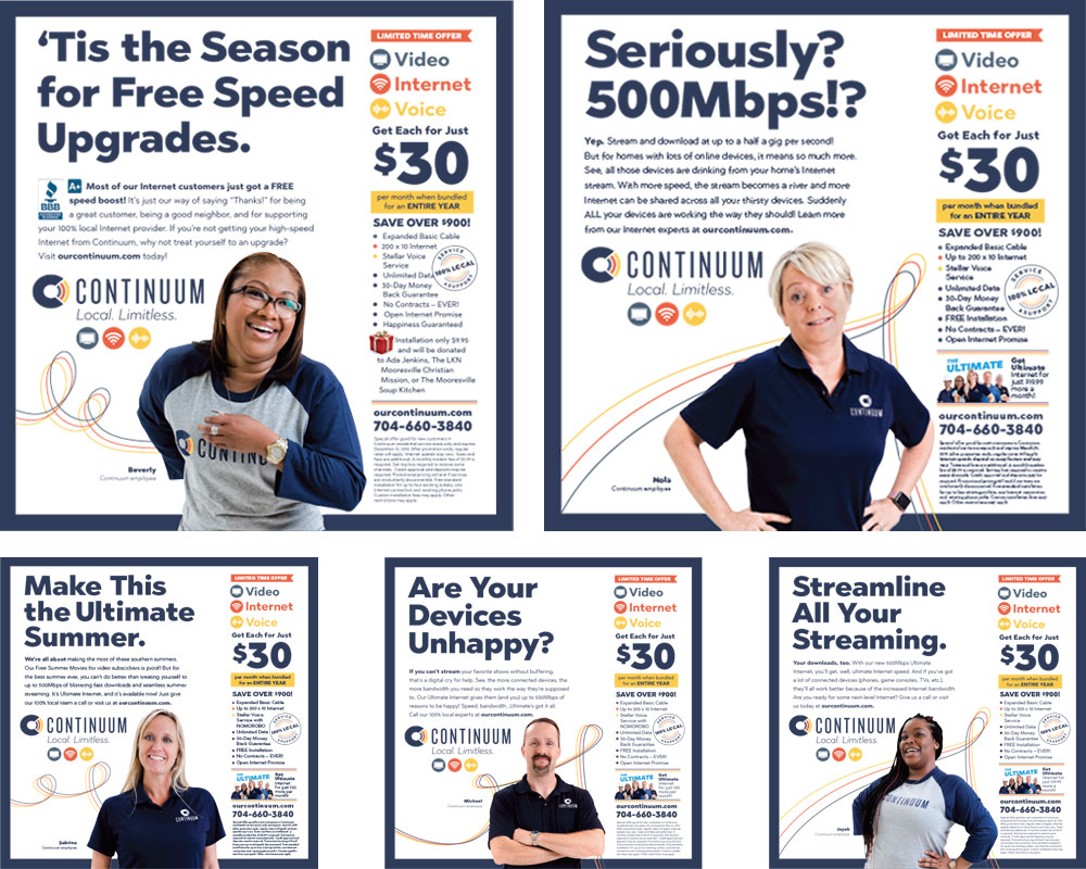 FINAL:  Some of the  advertising  featuring the folks who made the Continuum's promise of excellent, local customer service a reality.