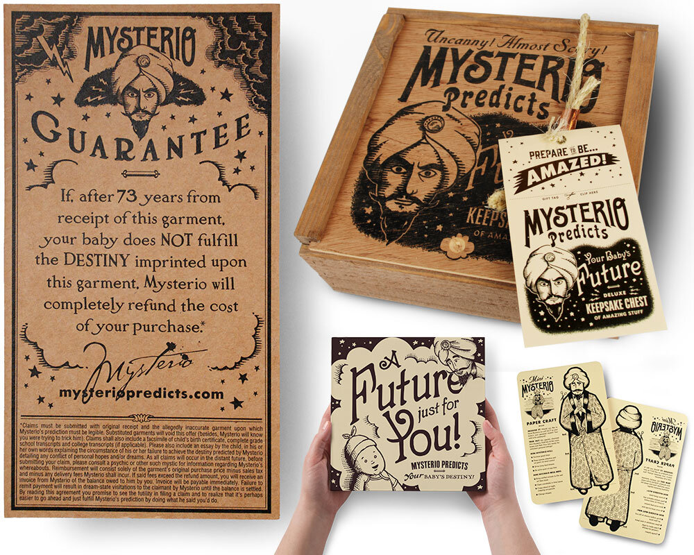 FINAL:  Mysterio's money-back guarantee along with some product extensions. His deluxe Keepsake Chest, his picture book, and even little freebie goodies like a papercraft Mysterio you can consult in times of indecision.