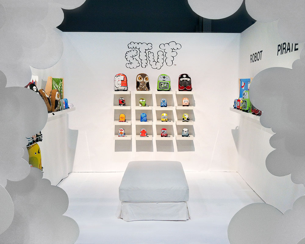 FINAL:  Once the concept proved itself, Stuf got to have  it's own booth  at NYIGF. So clean! I wish I had a better camera to document it. :-P