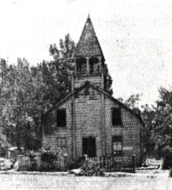 Liberal Hall, built in 1875, was used for church and school.