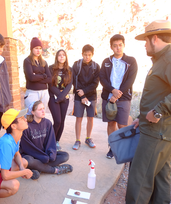 Students learn about Capital Reef.