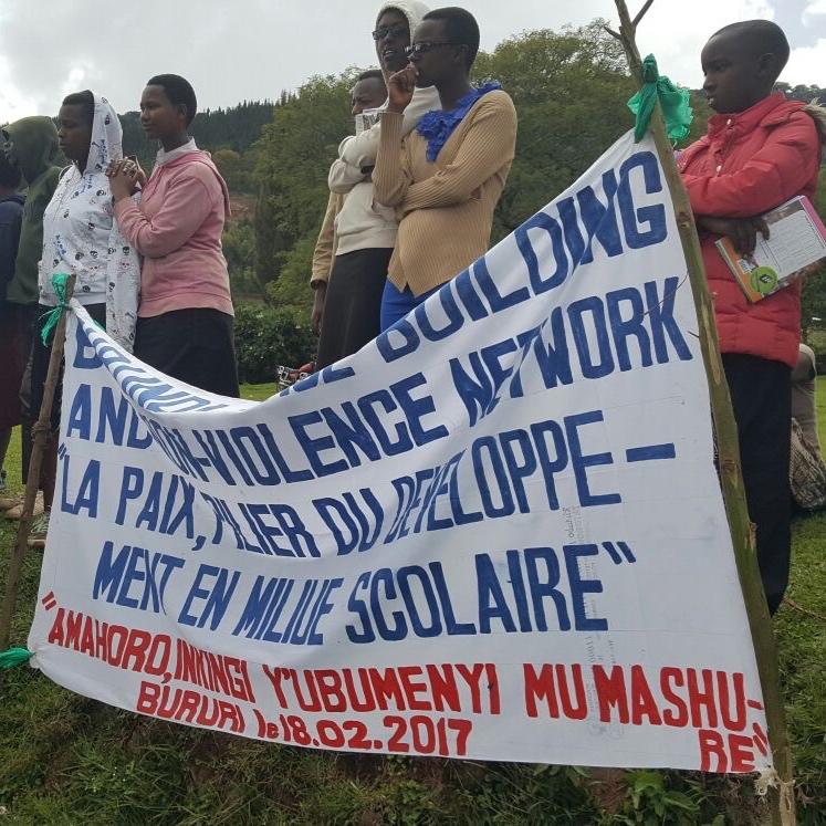 Sixte Vigny Nimuraba started the Burundian Nonviolence Network in 2015 (Photo: 2017)