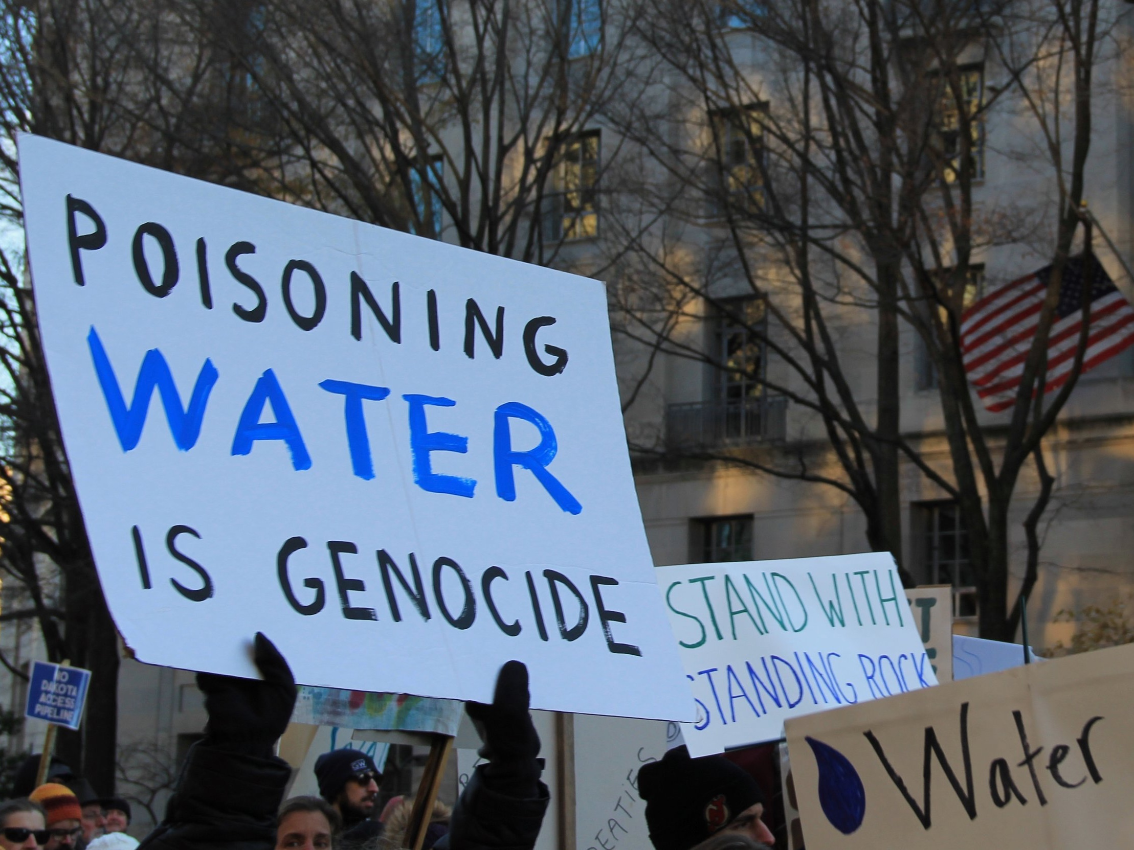 - Demonstration in support of Standing Rock to stop DAPL occurred all over the world throughout 2016 and in March 2017 in Washington, DC (source).