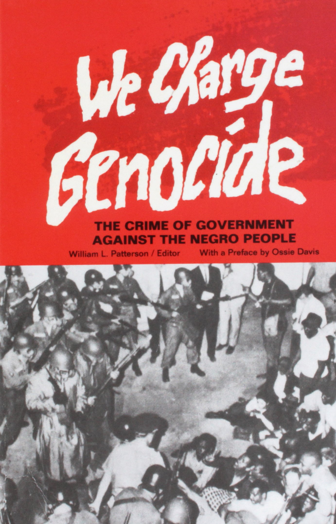 We Charge Genocide  (1951) was the first petition delivered to the United Nations to charge a UN Member State with genocide. The petition was part of a campaign led by prominent African-American intellectuals, such as William Paterson, W.E.B. Dubois, and Paul Robeson, who believed the UN Genocide Convention could be used to motivate international action to prevent lynching and other crimes against Black Americans that were committed by, or sanctioned by, local, state, and federal governments in the United States ( google it ).