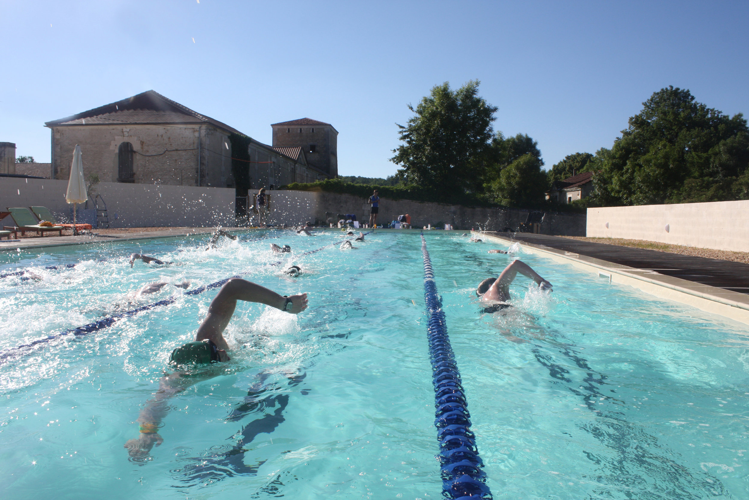 swimming at Les Stables