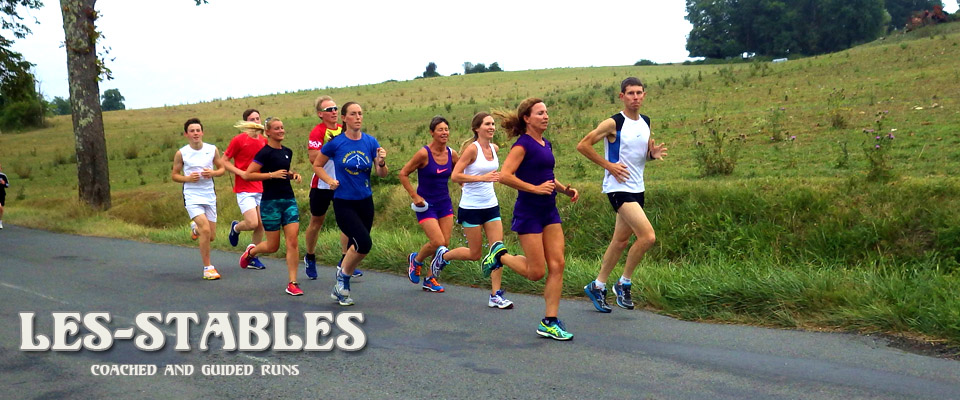Group run Les Stables Triathlon Camp