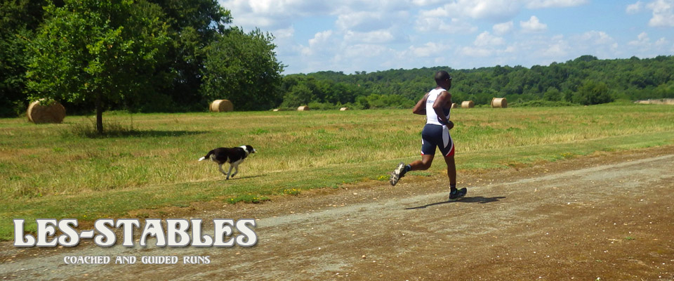 running for fun at Les Stables Triathlon Camp
