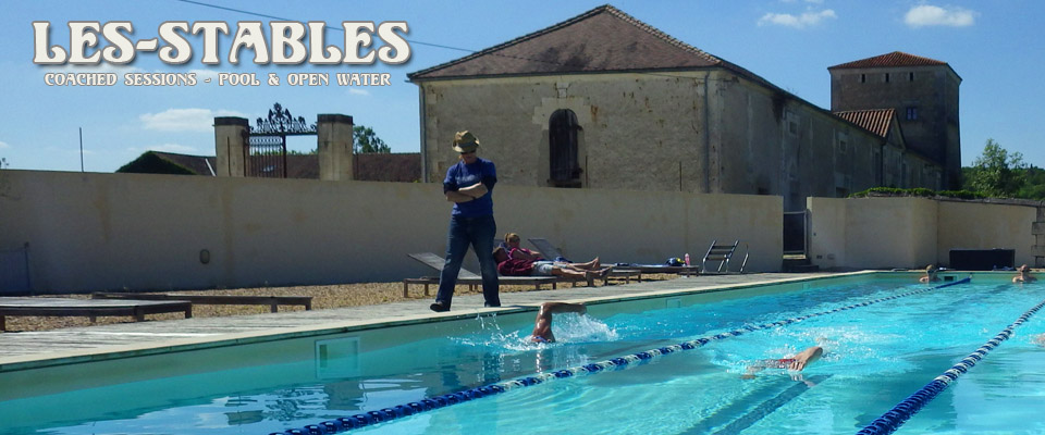 swim session in the pool
