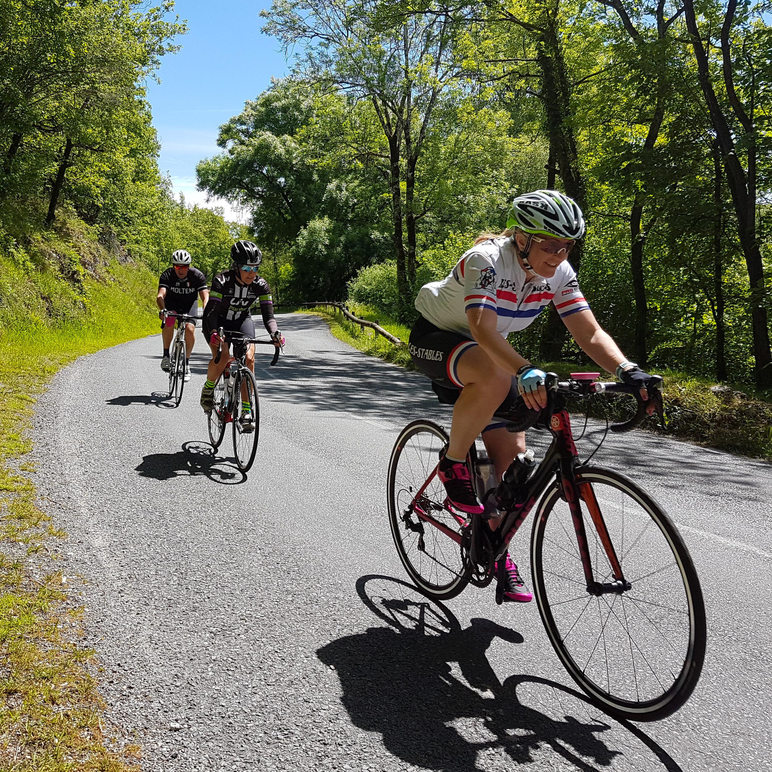 Cycling at Les Stables