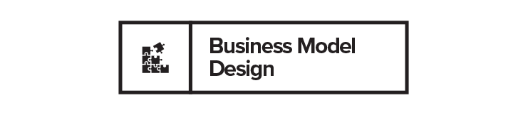 The design and planning of the business model around a new product or business innovation.