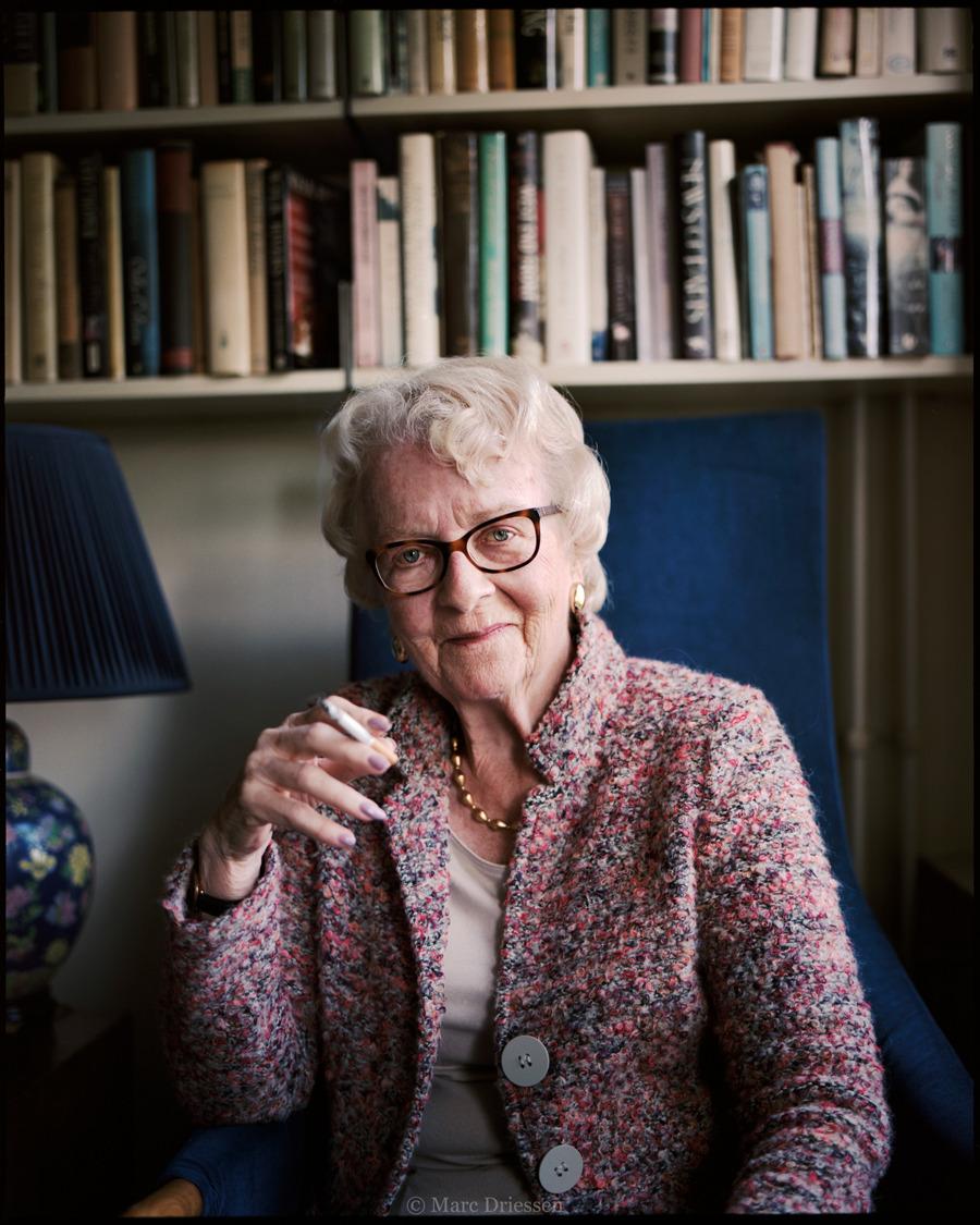 Radiopresentatrice Margot de Boer (87), recente publicatie in de  VPRO gids  bij een stuk van Merel van Ommen.