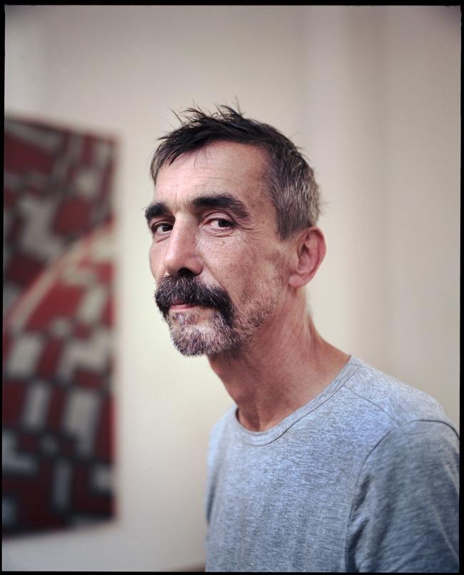 Amsterdam 31 augustus 2016. Peter Schuyff, (Baarn, 1958), Amerikaanse schilder, beeldhouwer en muzikant.  In opdracht van Het Parool. foto: Marc Driessen