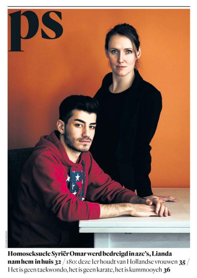 Vandaag in het Parool, verhaal over de homoseksuele Syrische asielzoeker Omar en zijn beschermengel Lianda.  Tekst Marloes de Moor, fotografie Marc Driessen  http://www.parool.nl/binnenland/homoseksuele-omar-werd-bedreigd-in-azc-s-lianda-nam-hem-in-huis~a4245090/