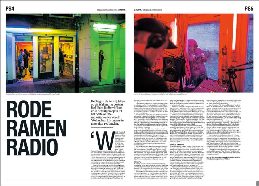 Red Light Radio, vandaag in het Parool. Stuk van Vincent Smits, foto's © Marc Driessen draaien die zender http://redlightradio.net/