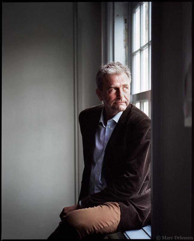 Amsterdam, 6 Maart 2015. De Deense schrijver Jens Christian Grøndahl.  foto in opdracht van Het Parool © Marc Driessen