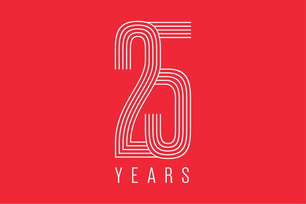 Artspeak Gallery 25th anniversary logo